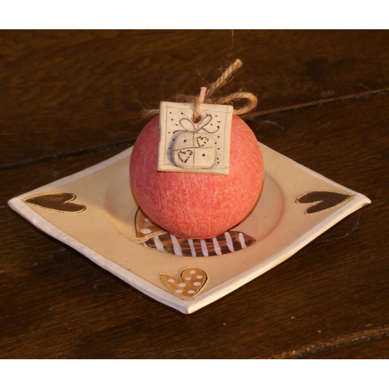 Candle ball R60 (pink-red)