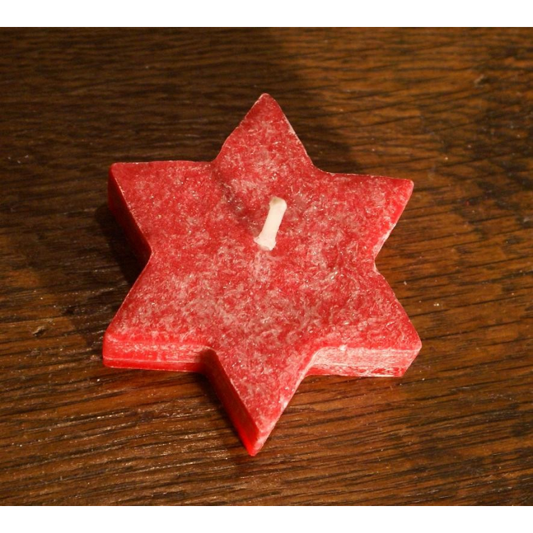 Floating star candle (red)