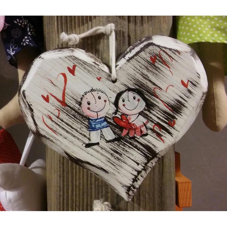 Srdce masív stredné (biele)