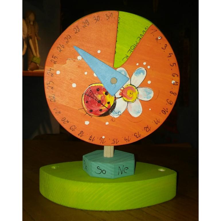 Kalendár motív 2 oranžový