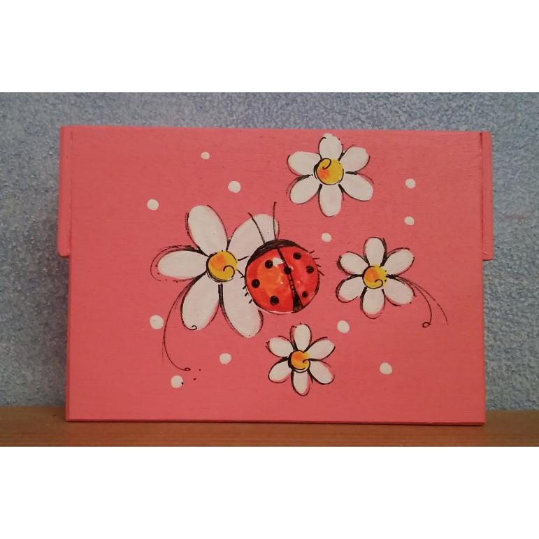 Krabička stredná Kvietky (ružová)