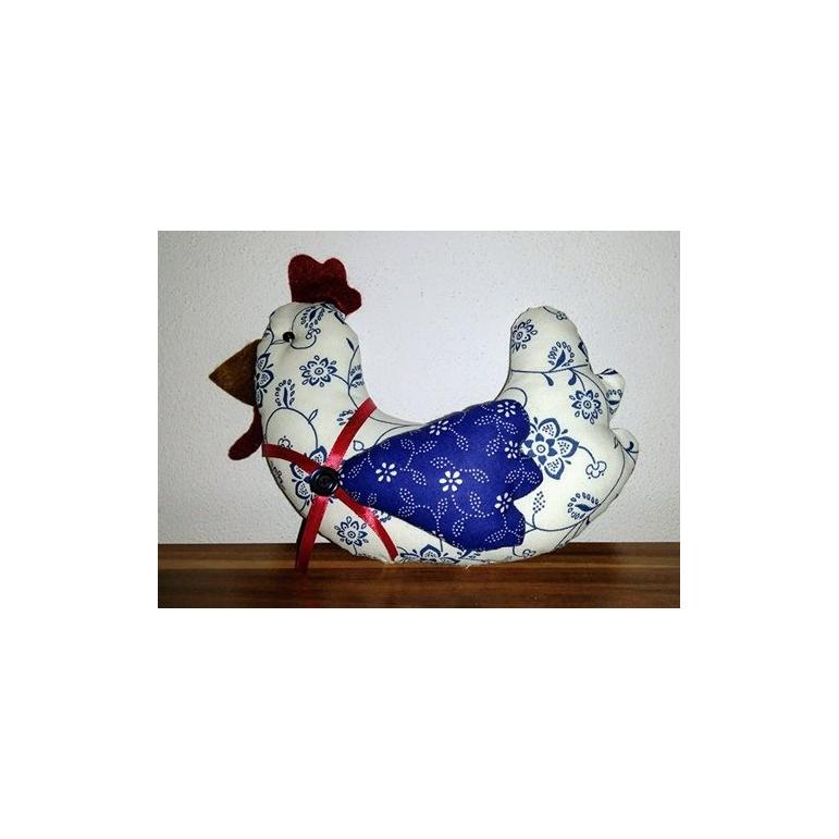 Veľkonočná sliepočka bielo-modrá