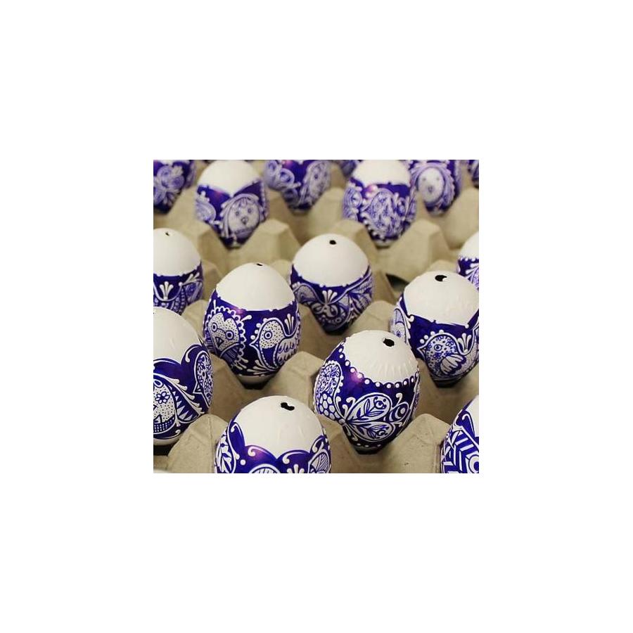 Kraslica maľovaná (bielo-modrá)