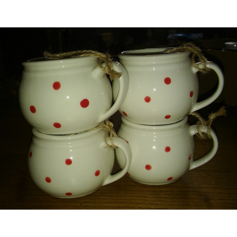 Mug white with dots