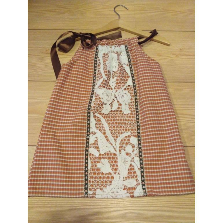 Dievčenské šaty -  ČERVENÝ ĽAN