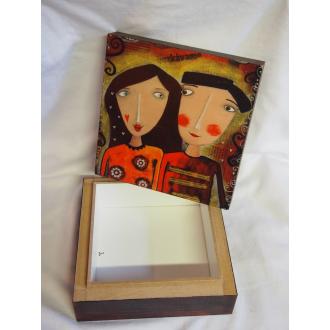 Krabička malovaná pán a pani