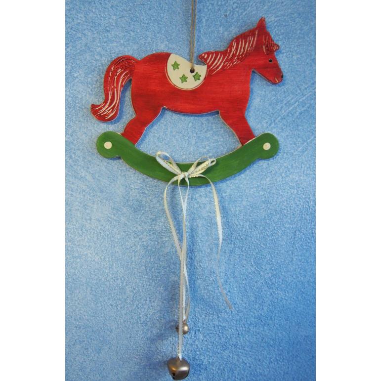 Keramický Vianočný koník s rolničkami