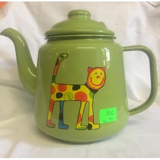 Smaltovaný čajník (zelený)