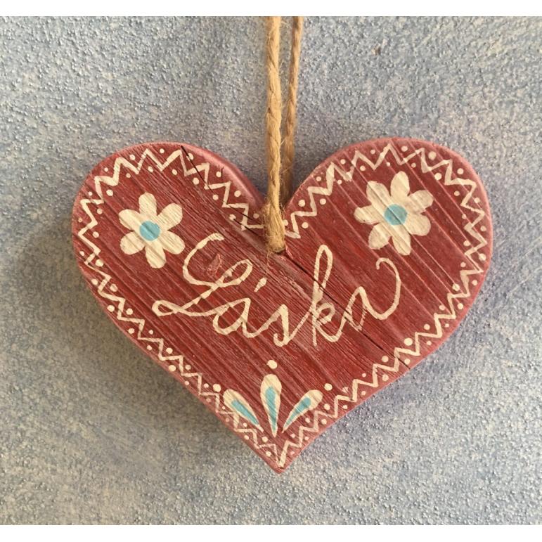 Wooden Folk Heart
