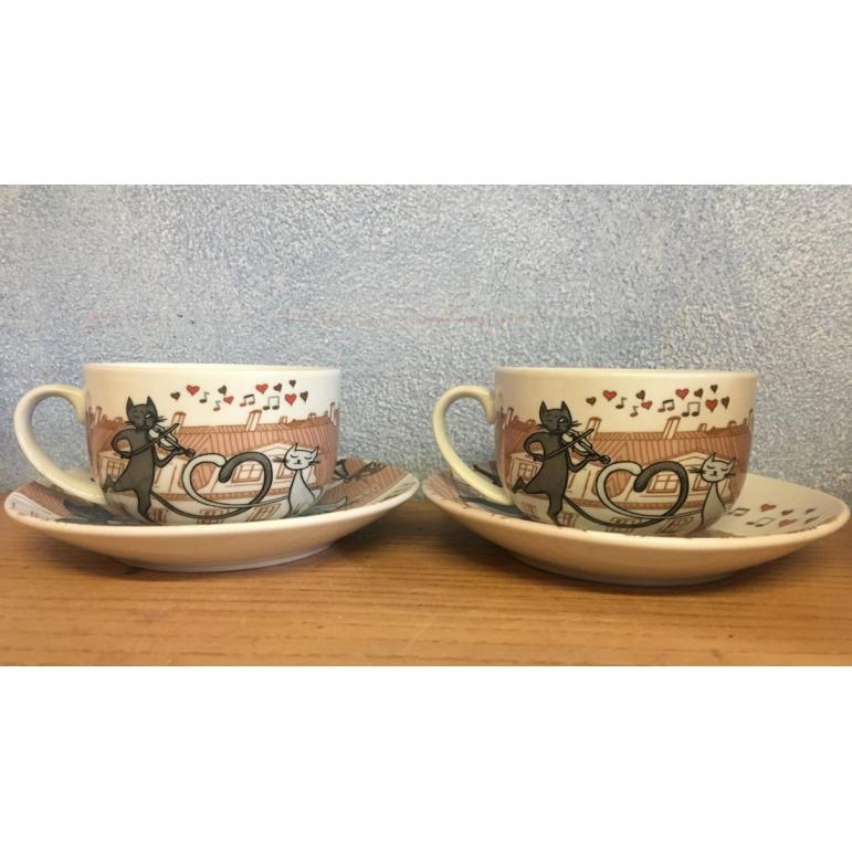 čajová súprava mačičky