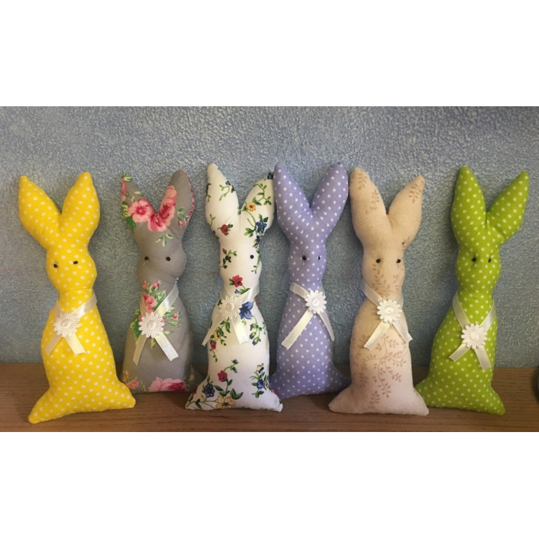 Textilný zajac malý