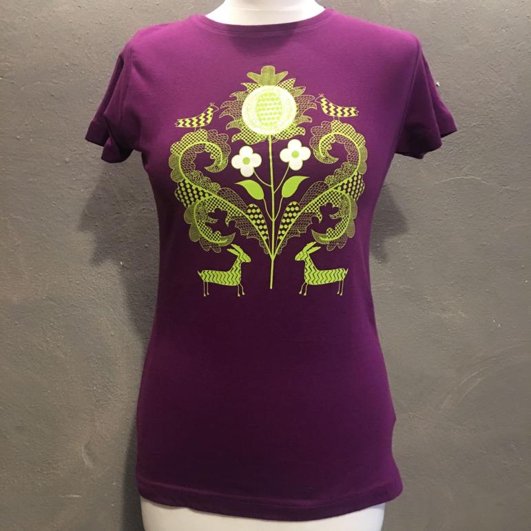 Dámske tričko bodliak fialové