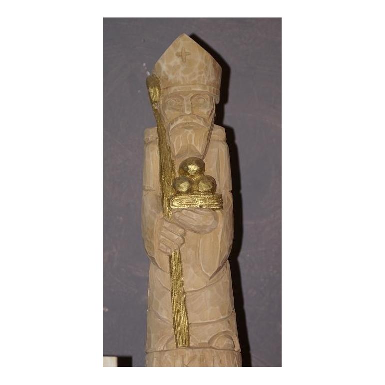 Wooden statue of Saint Nicholas