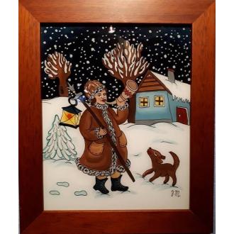 Maľba na sklo - Polnočný trubač