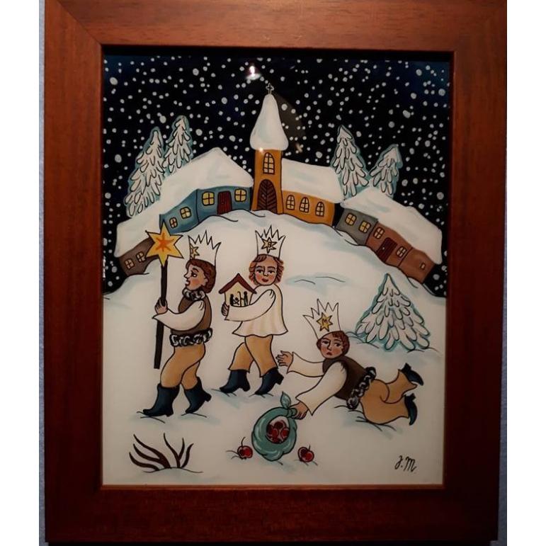 Maľba na sklo - Betlehemci 2