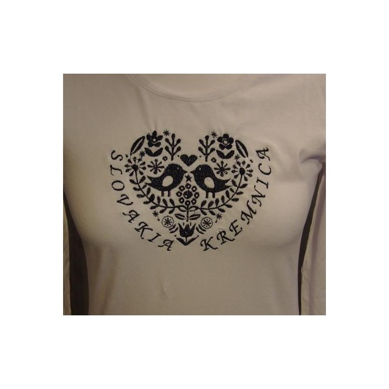 Dámske tričko vtáčiky (Slovakia - Kremnica) biele