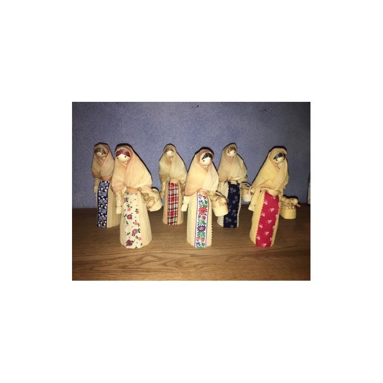 Šúpoľové bábiky s húskami