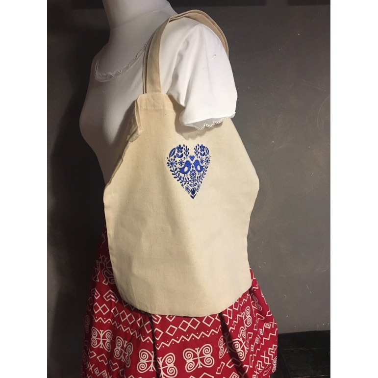 Plátená taška vyšívaná