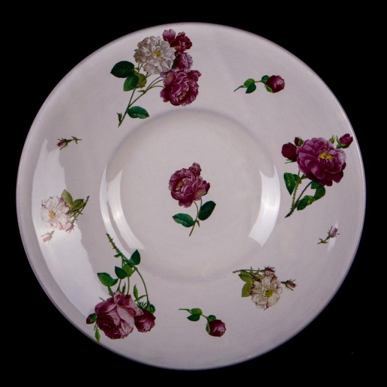 Ozdobný tanier (ruže)