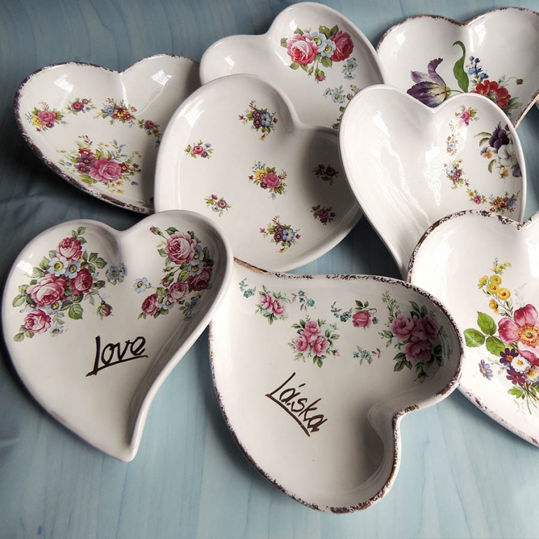 Bowl heart - painted