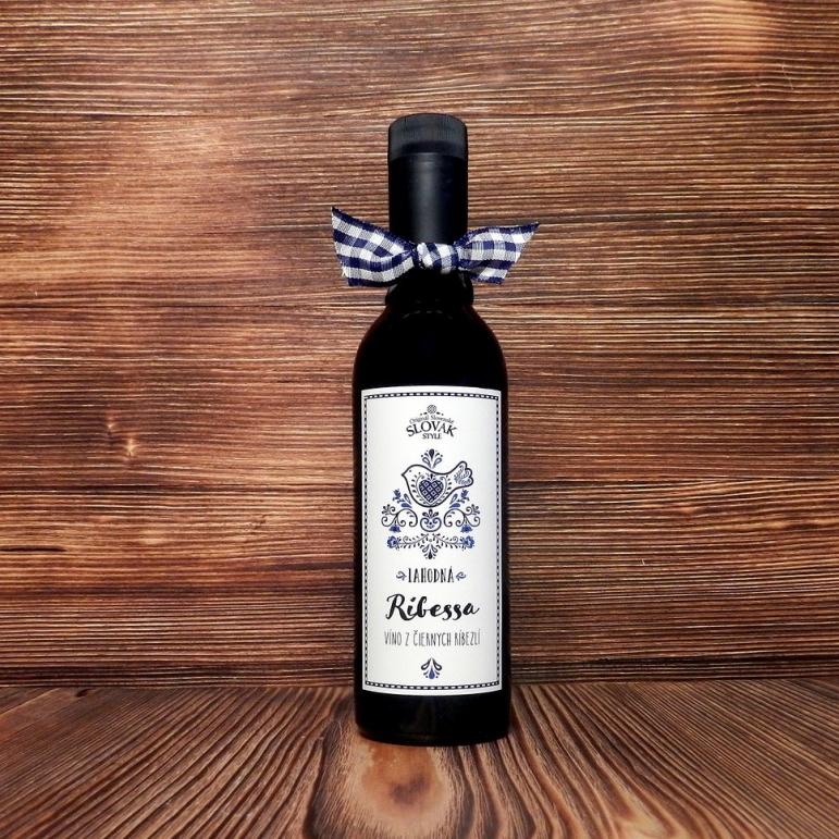 Ríbezľové víno Ribessa 0,375l
