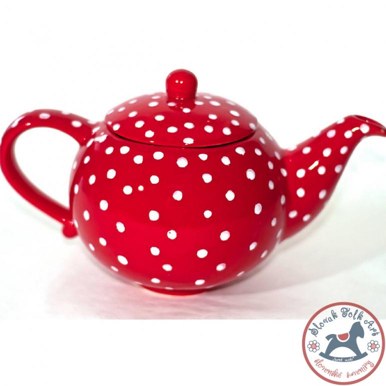 Čajník Romantik červený