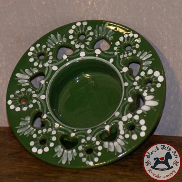 Tea candlestick Majolica (green)