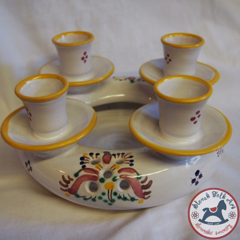 Advent candlestick majolica large (Haban)