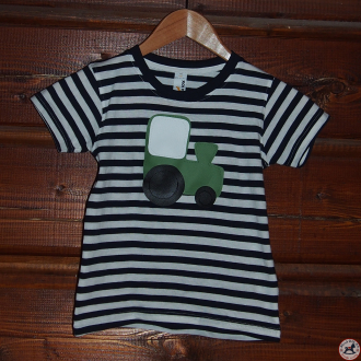 Detské pískacie tričko (pásikavé so srdiečkom)
