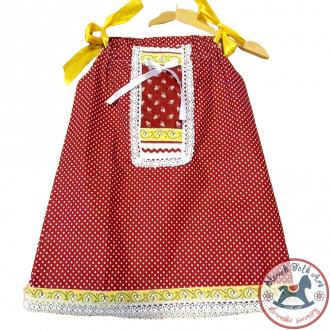 Dievčenské šaty Červený ľan