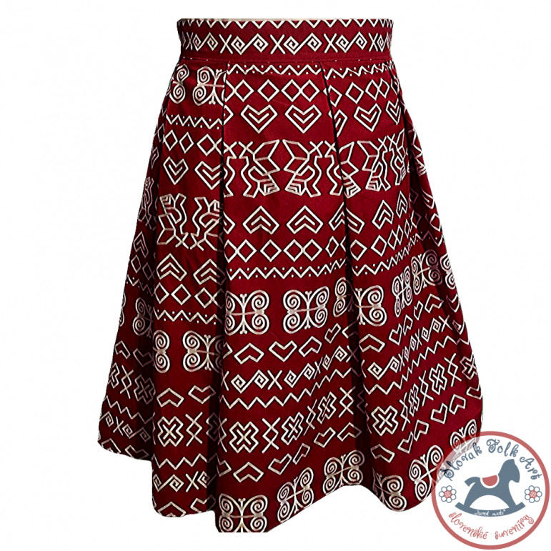 Skirt Čičmany pattern (red)
