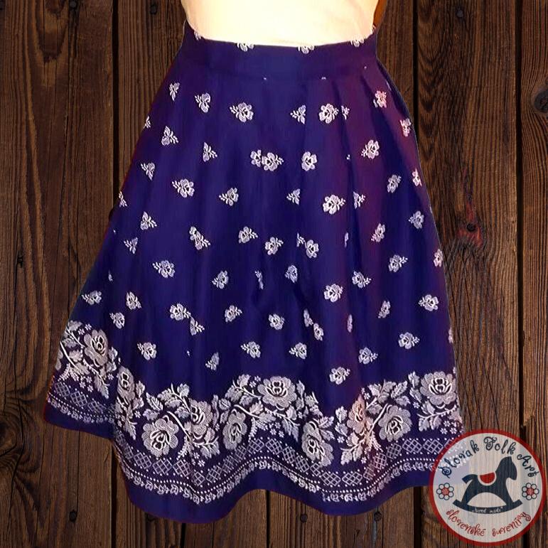 Skirt Folk Love (blue)