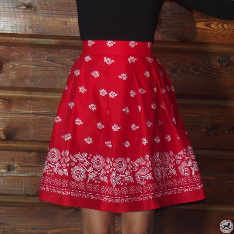 Sukňa Folk Love (červená)
