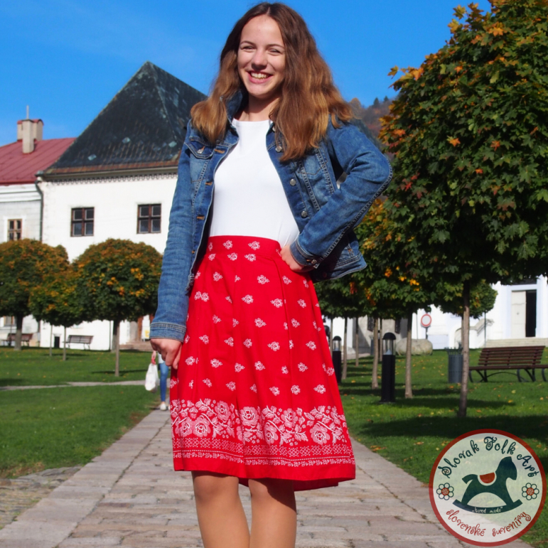 Skirt Folk Love (red)