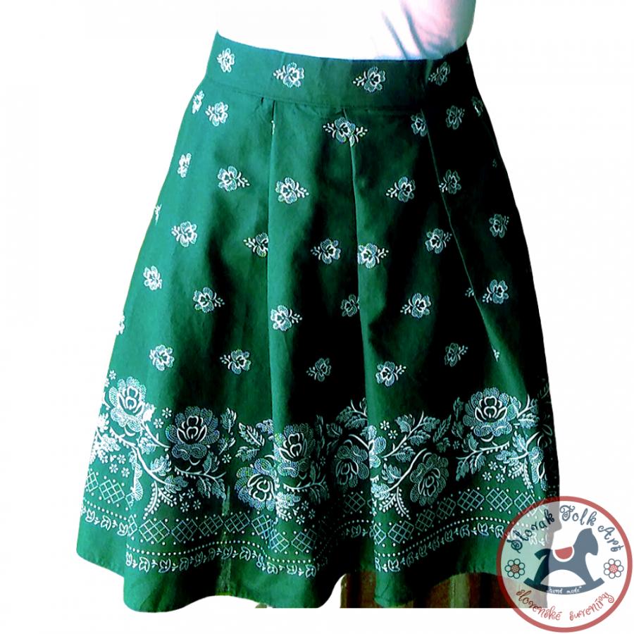 Sukňa Folk Love (zelená)