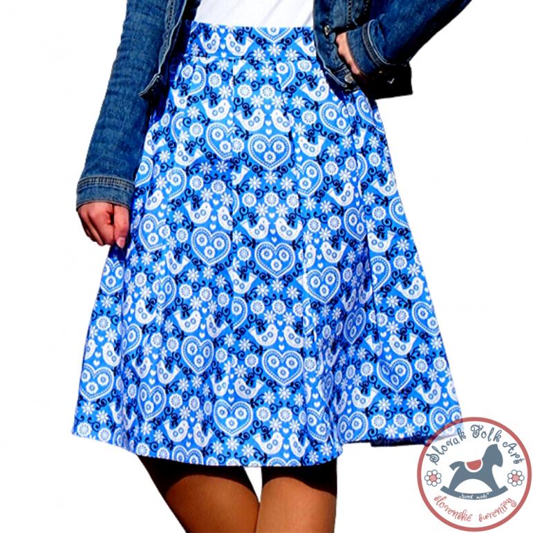 Skirt Birds (soft blue)