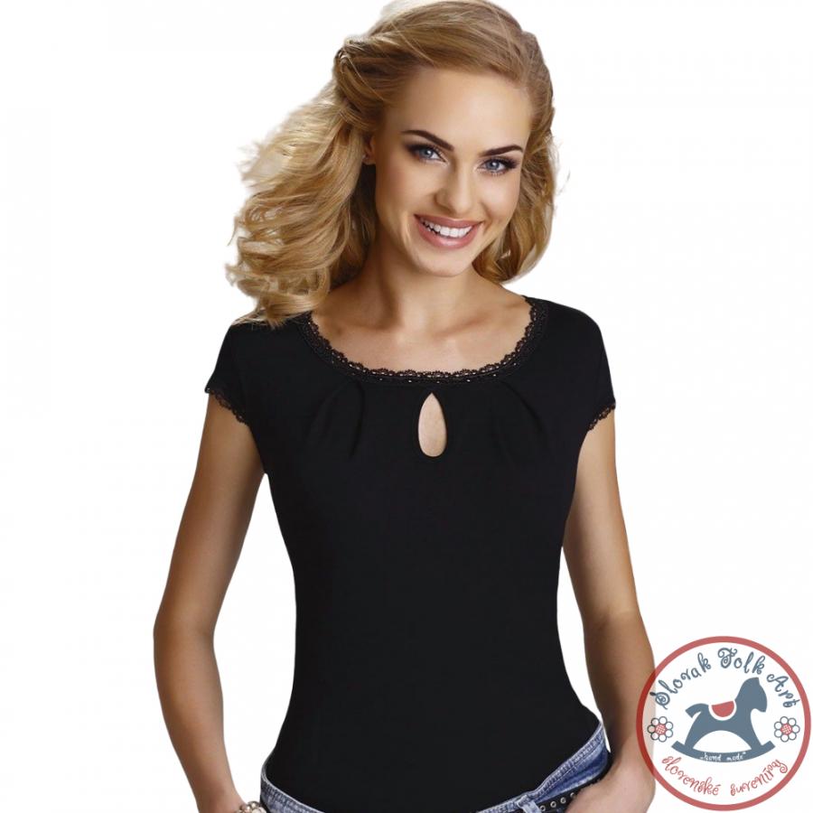 Dámske tričko Regina (čierne)