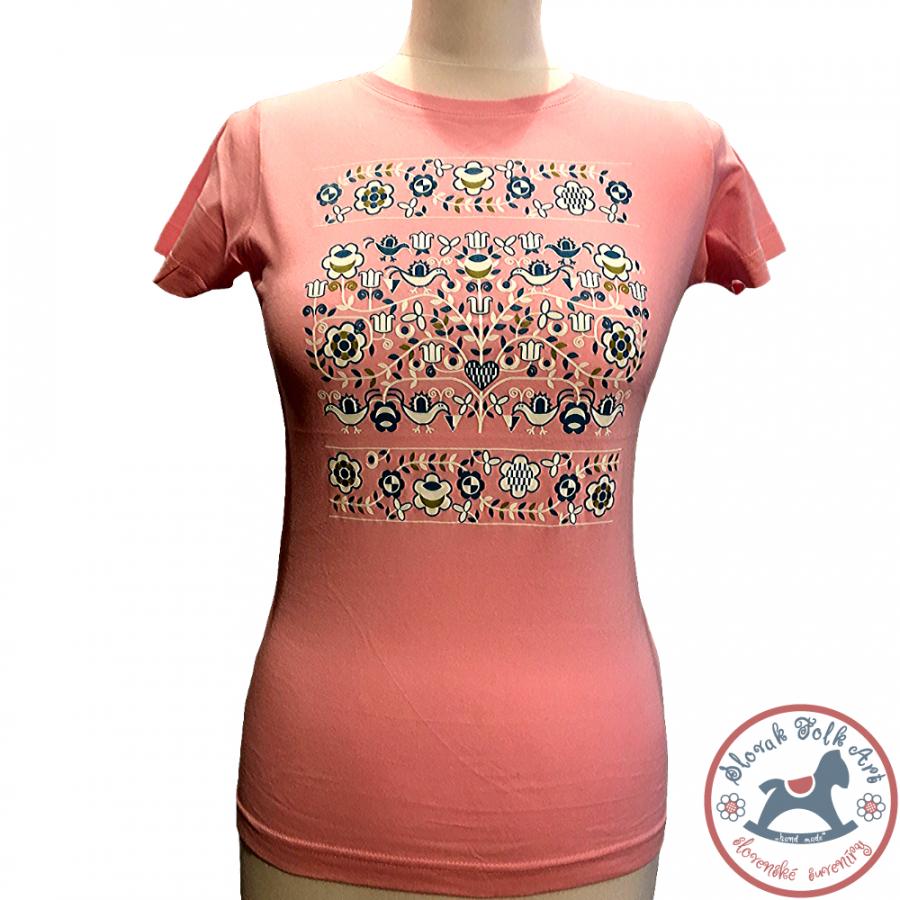 Dámske tričko Ornament (ružové)