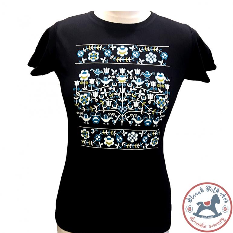 Women´s T-shirt Ornament (blue)