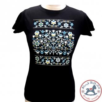 Dámske tričko Ornament (čierne)
