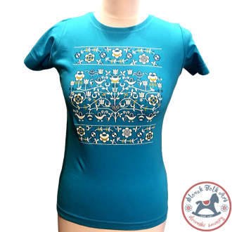 Women´s T-shirt Ornament (turquoise)
