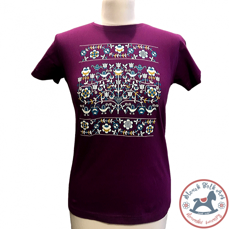 Women's T-shirt Ornament (purple)