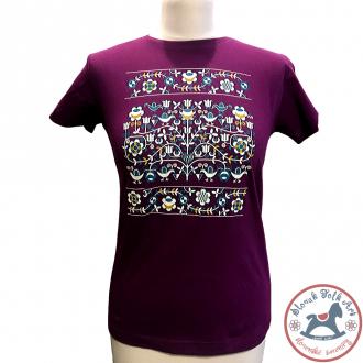 Dámske tričko Ornament (fialové)