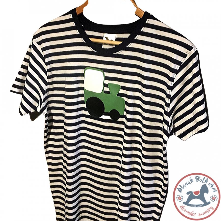 Pánske pískacie tričko (zelený vláčik)