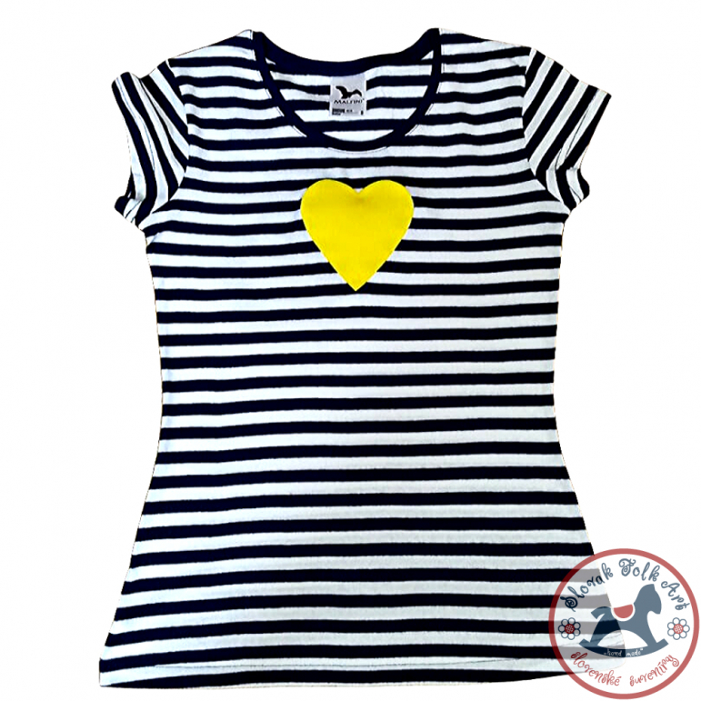 Women´s whistling T-shirt (yellow heart)