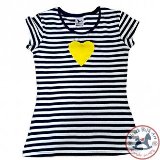 Dámske pískacie tričko (žlté srdiečko)