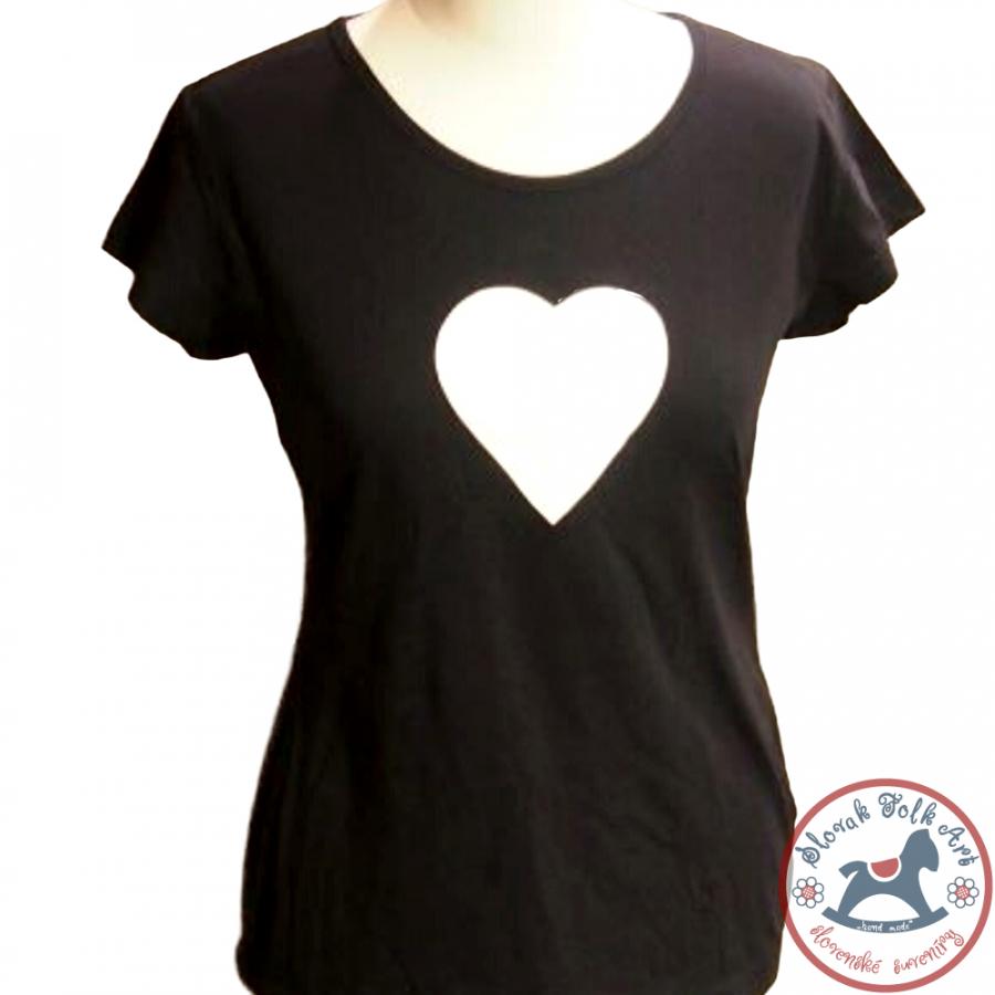Dámske pískacie tričko (biele srdiečko)