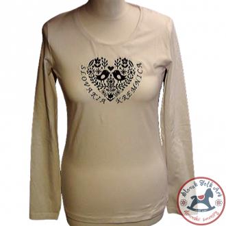 Dámske tričko s  nápisom Vtáky (biele)