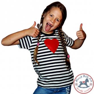 Detské pískacie tričko (červené srdiečko)