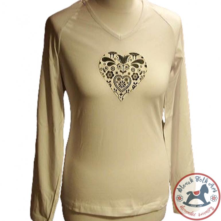 Dámske písakcie tričko (biele s dlhým rukávom)